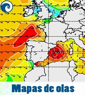 mapas de olas para previsión de surf