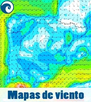 mapas de viento para previsión de kite y surf