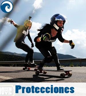 Protecciones Skate Casco, guantes, rodilleras, coderas